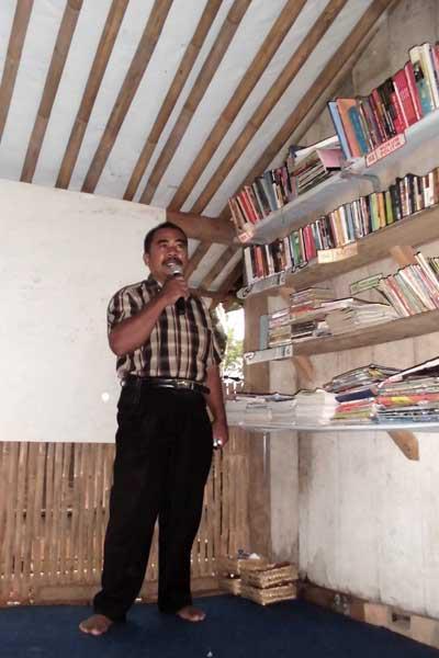 Pemaparan tentang pupuk organik dan budidaya tanaman organik oleh Bp. Setiyarman