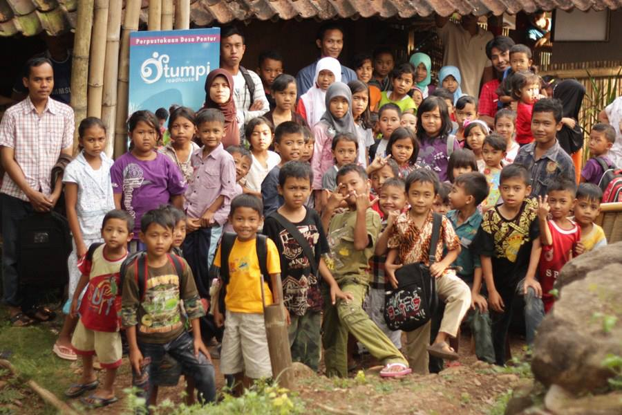Children after doing various events in Tumpi Readhouse