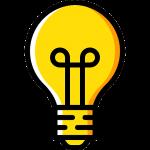ruang kreatif ikon lampu